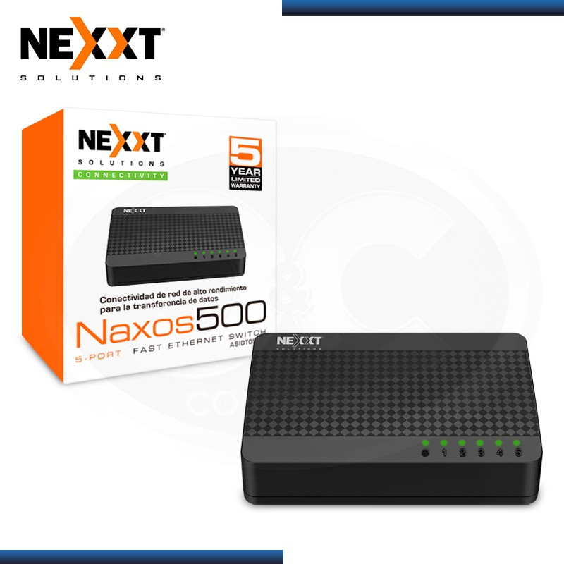 SWITCH NEXXT NAXOS 500 5 PUERTOS ETHERNET 10/100 MBPS (PN:ASIDT054U2)