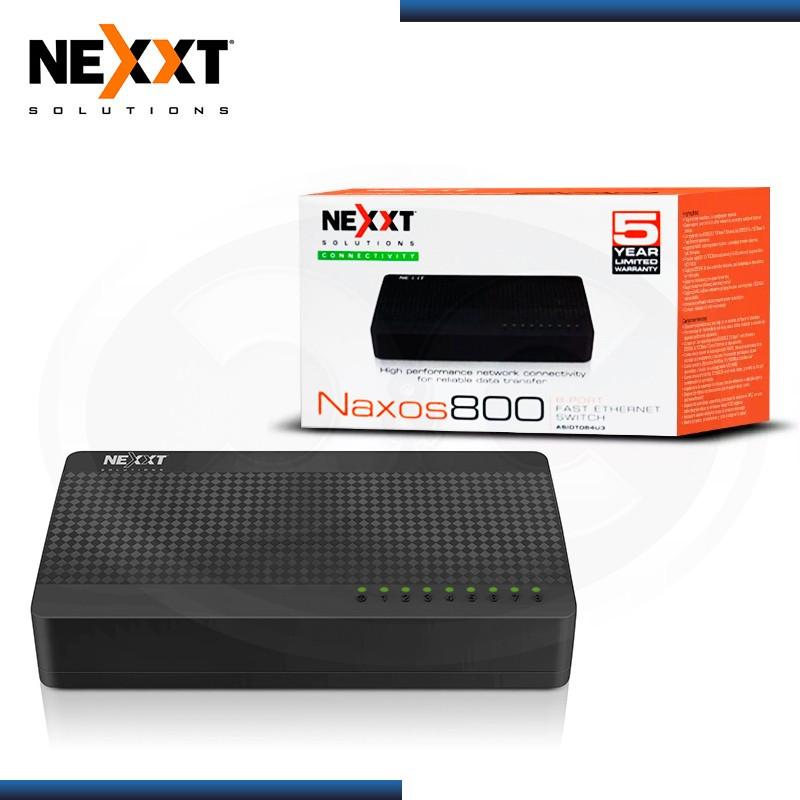 SWITCH NEXXT NAXOS 800 8 PUERTOS 10/100 MBPS PLASTICO (PN:ASIDT084U3)