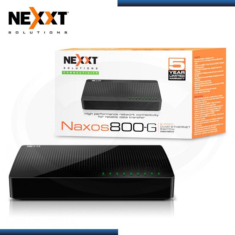 SWITCH NEXXT NAXOS 800-G 8 PUERTOS 10/100/1000 MBPS (PN:ASBDT084U2)