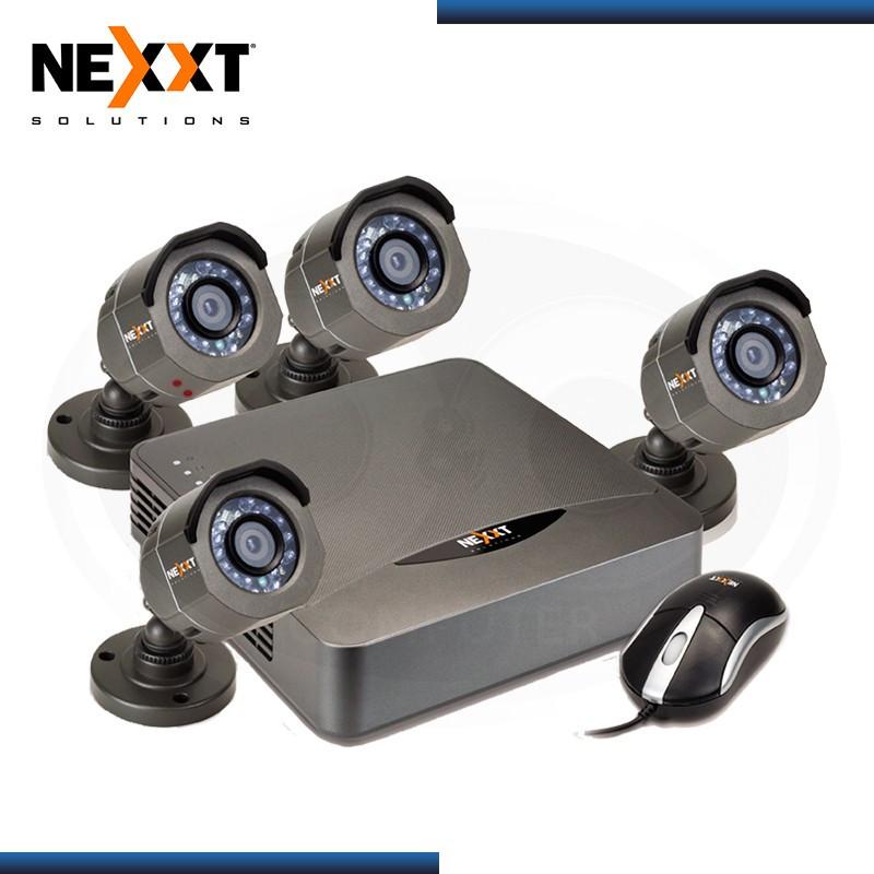 KIT DE CAMARAS NEXXT DVR 4 CANALES + 4 CAMARAS 720P / EXTERIOR HDM I/ VGA/ USB/ LAN + CABLES (N/P AKD-0474HD )