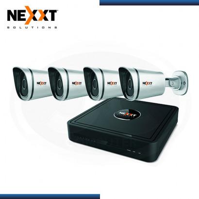KIT DE CAMARAS NVR NEXXT XPY 1280-HD  CON 8 CANALES Y CUATRO CAMARAS DE SEGURIDAD IP  (AKN-0874HD)