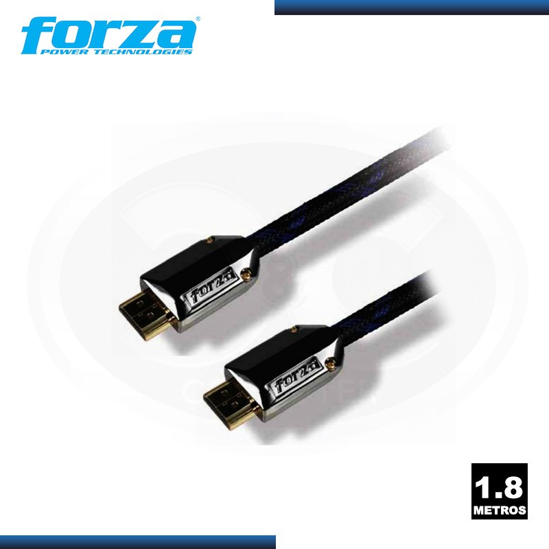 CABLE HDMI FORZA FAV-HD06AP FULL HIGH DEFINITION 6FT/ 1.8 MTS BLACK