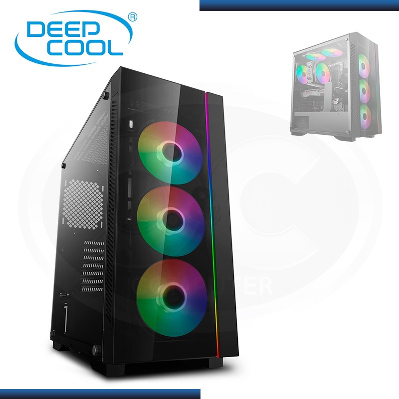 CASE DEEPCOOL MATREXX 55 V3 ADD-RGB 3F SIN FUENTE VIDRIO TEMPLADO MID TOWER USB 3.0/USB 2.0 (PN:DP-ATX-MATREXX55V3-AR-3F)