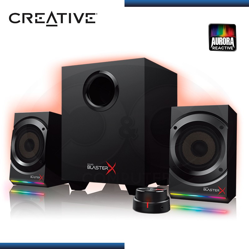 CREATIVE SOUND BLASTERX KRATOS S5 RGB SISTEMA ALTAVOCES 2.1 GAMING BLACK (PN:51MF0470AA000)