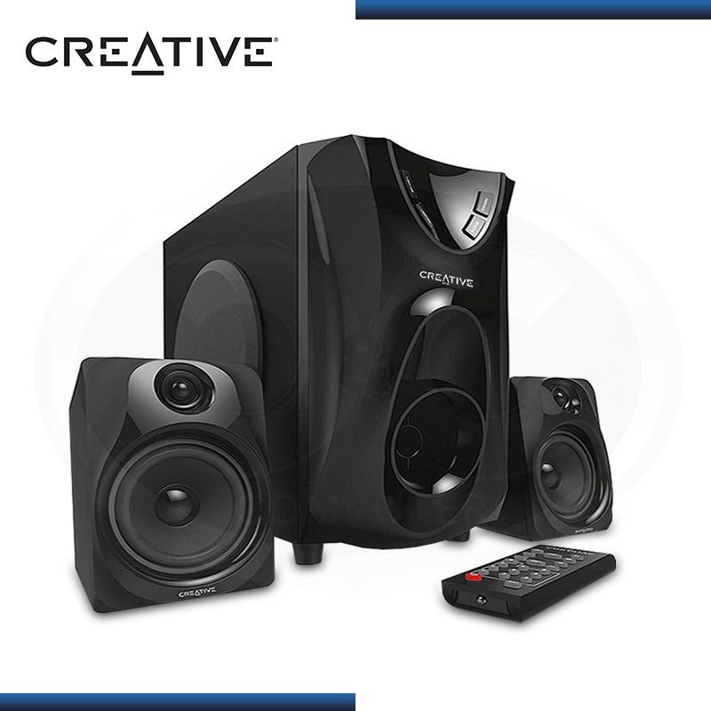 CREATIVE E2400 SISTEMA DE ALTAVOCES 2.1 RADIO FM BLACK (PN:51MF046AA000)