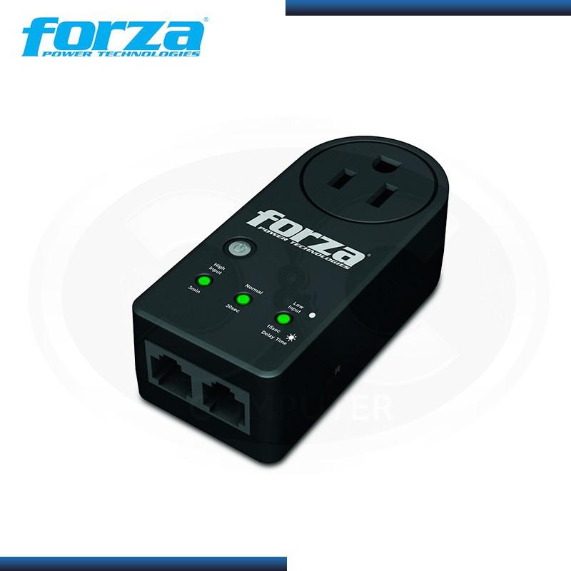 FORZA FVP-1201N BLACK PROTECTOR DE VOLTAJE 1 TOMA