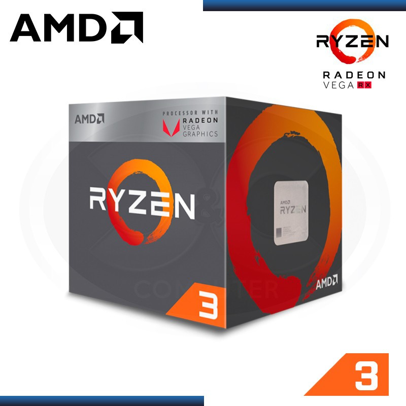 PROCESADOR AMD RYZEN 3 2200G, 3.7GHZ, 6MB ,4 CORE, AM4 ,14NM,65W ( YD2200C5FBBOX)