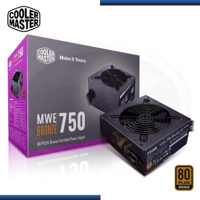 FUENTE COOLER MASTER MWE V2 750W 80 PLUS BRONZE / ATX 12 V /  V.2.31 (PN: MPE-7501-ACAAB-US )