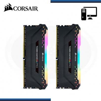 MEMORIA CORSAIR VENGEANCE RGB PRO 16GB (2x 8GB) DDR4 3600MHz BLACK (N/P CMW16GX4M2D3600C18 )