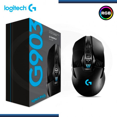 MOUSE WIRELESS LOGITECH G903 LIGHTSPEED, GAMING BLACK (PN:910-005086)