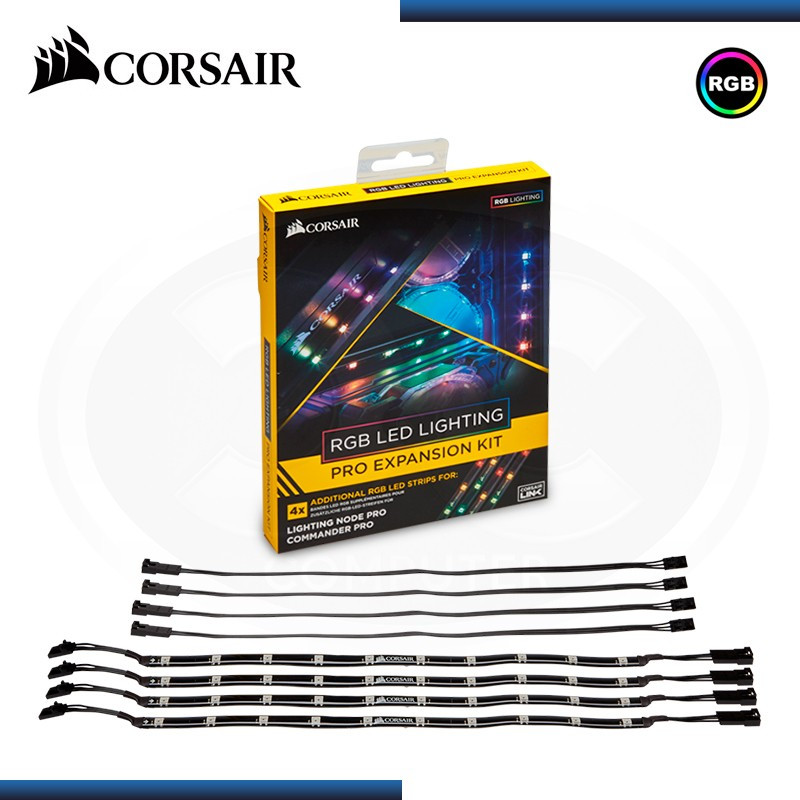 KIT DE EXPANSIÓN LUCES LED CORSAIR PRO 4 TIRAS RGB (PN:CL- 8930002)
