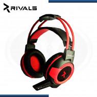 AUDIFONO C/ MICROFONO GAMING RIVALS MERCURY H65 RED 5.1 / USB