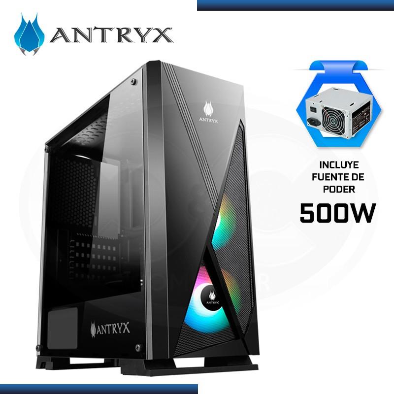 CASE ANTRYX EXTREME NEO II + FAN x1 ARGB + CINTA LED CON FUENTE 500W USB 3.0/USB 2.0 (PN:AC-XN02KW-500CP)
