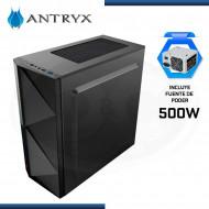 CASE ANTRYX EXTREME NEO I C/FUENTE 500W | FAN x1 ARGB + CINTA LED| VENTANA ACRILICA (N/P AC-XN01KW-500CP )