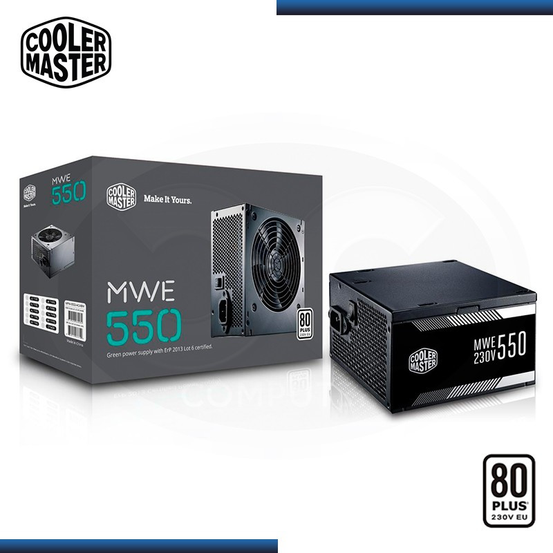 FUENTE COOLER MASTER MWE 550W 80 PLUS (PN:MPW-5502-ACABW-W0)