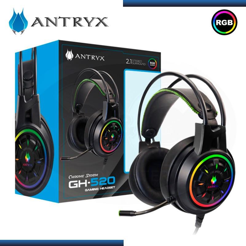 AUDIFONO ANTRYX GH-520 CHROME STORM 2.1 RGB BLACK (PN:AGS-GH530K)