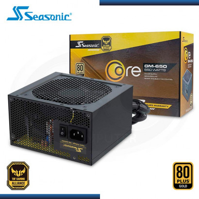 FUENTE PODER SEASONIC CORE GM 650W 80 PLUS GOLD | SEMI- MODULAR (N/P SSR-650LM )