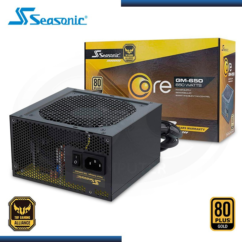 FUENTE SEASONIC CORE GM 650W 80 PLUS GOLD SEMI MODULAR (PN:SSR-650LM)