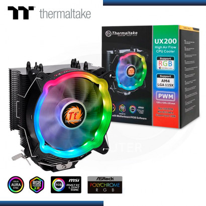 THERMALTAKE UX200 ARGB REFRIGERACION AIRE AMD/INTEL (PN:CL-P065-AL12SW-A)