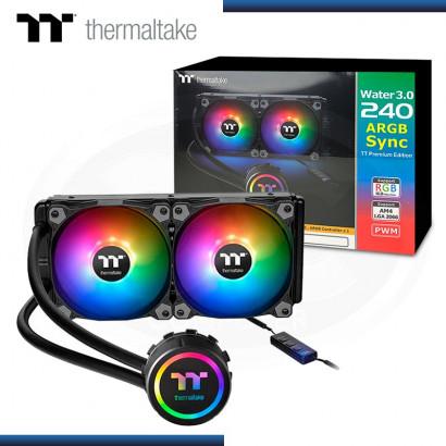 COOLER CPU THERMALTAKE WATER 3.0 240 ARGB SYNC REFRIGERACION LIQUIDO AMD/INTEL (PN:CL-W233-PL12SW-B)