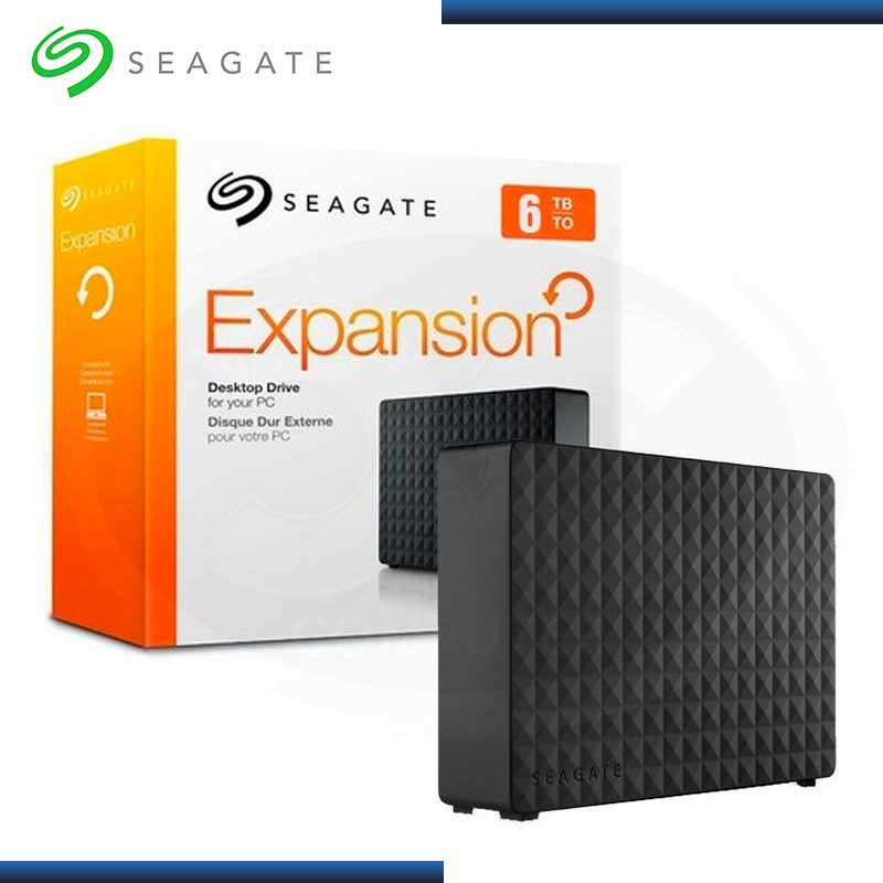 "DISCO DURO 6TB EXTERNO SEAGATE EXPANSION BLACK 3.5"" USB 3.0/USB 2.0 (PN:STEB6000403)"