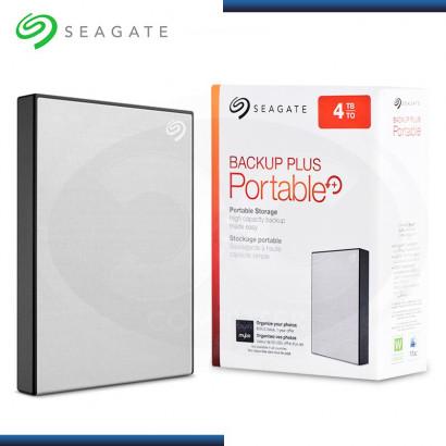 """DISCO DURO 4TB EXTERNO SEAGATE BACKUP PLUS PORTABLE SILVER 2.5"""" USB 3.0 (PN:STHP4000401)"""