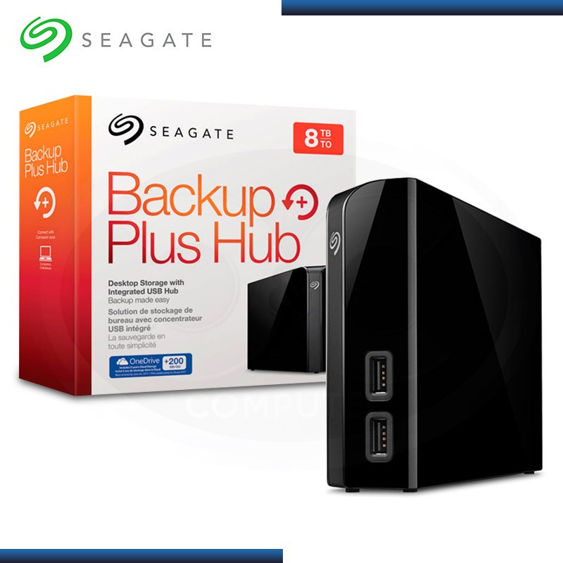 "DISCO DURO EXTERNO SEAGATE BACKUP PLUS HUB 8TB, 3.5"", USB 3.0  (MOD:STEL8000100)"