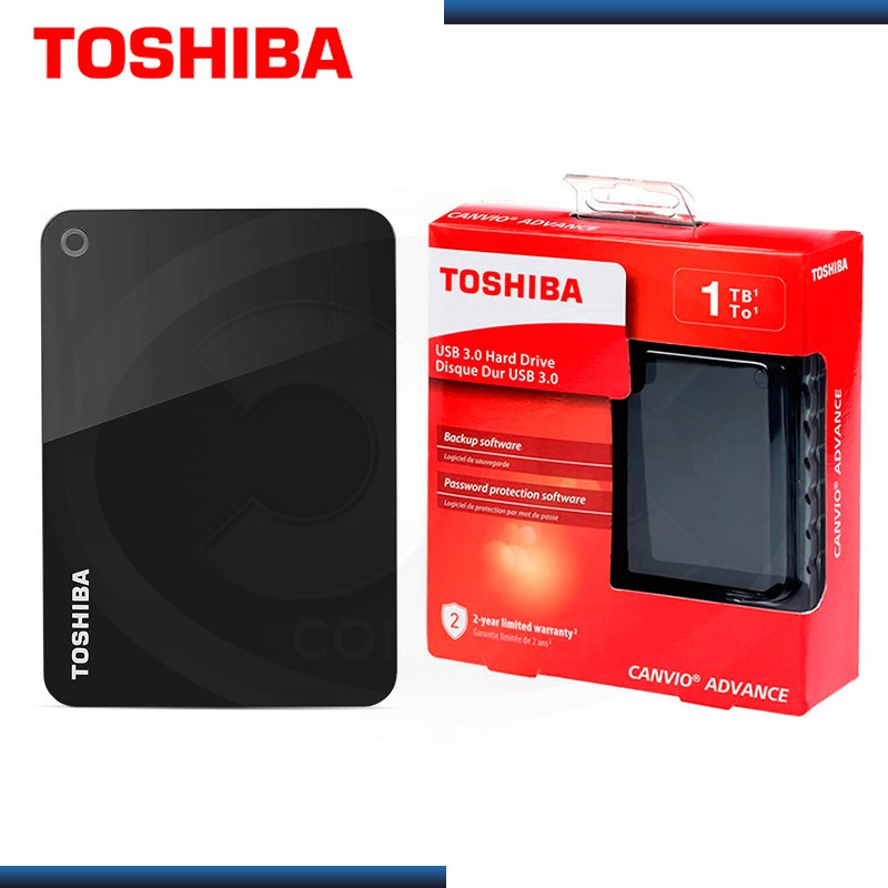 "DISCO DURO 1TB EXTERNO TOSHIBA CANVIO ADVANCE NEGRO 2.5"" USB 3.0 (PN:HDTC910XK3AA)"