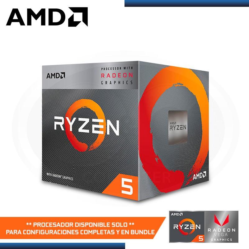 PROCESADOR AMD RYZEN 5 3400G 3.7GHZ 6MB 4CORE AM4 RADEON RX VEGA 11 (PN:YD3400C5FHBOX)