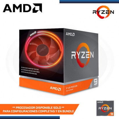 PROCESADOR AMD RYZEN 9 3900X 3.8GHZ/4.6GHZ MAX BOOST 70MB 12CORE AM4 (PN:100-100000023BOX)