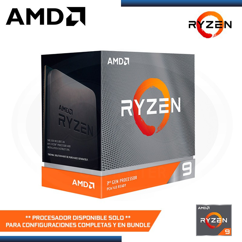 PROCESADOR AMD RYZEN 9 3950X 3.5GHZ/4.7GHZ MAX BOOST 72MB 16CORE AM4 (PN:100-100000051WOF)