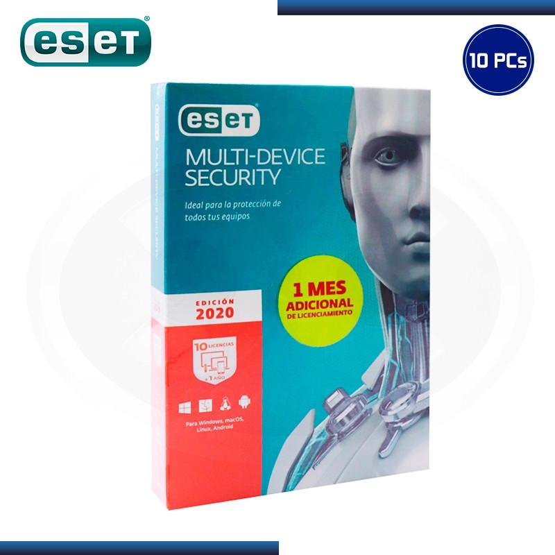 ESET MULTI DEVICE SECURITY 2020 10 PCs 12 MESES (PN:S11030111)