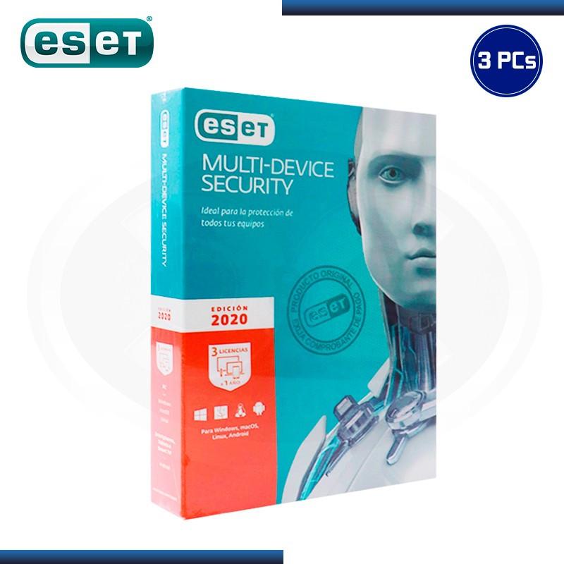 ESET MULTI DEVICE SECURITY 2020 3 PCs 12 MESES (PN:S11030109)