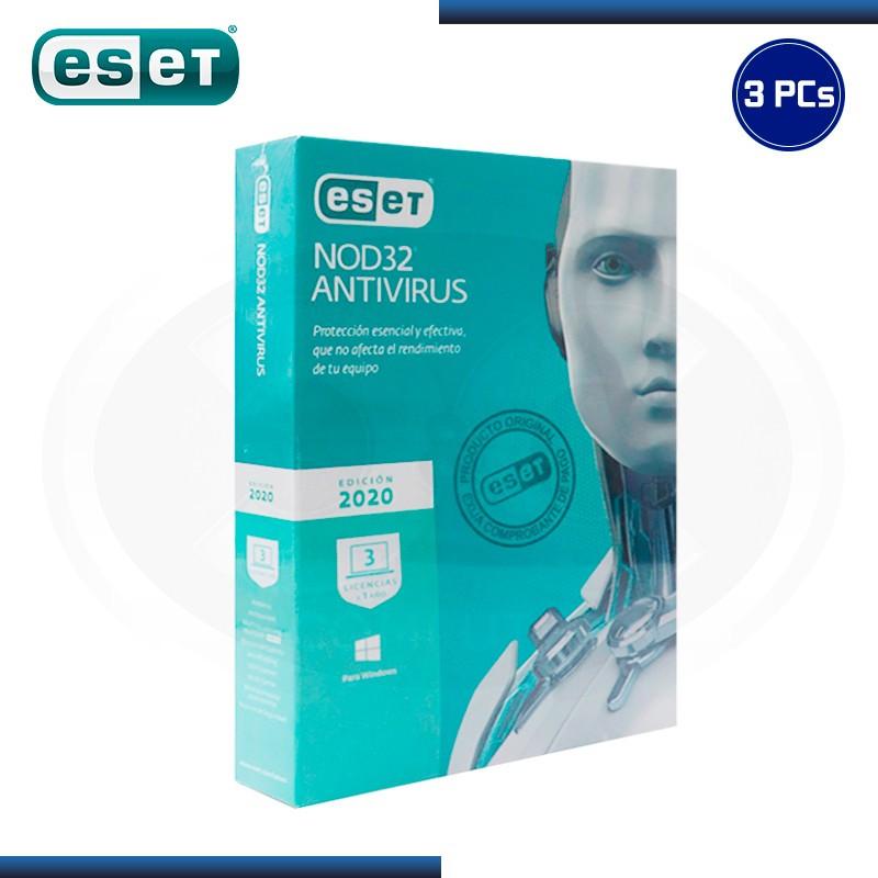 ESET NOD32 ANTIVIRUS 2020 3 PCs 12 MESES (PN:S11010173)