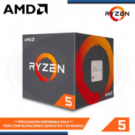 PROCESADOR AMD RYZEN 5 2600, 3.4GHZ, 19MB ,4 CORE, AM4 , ( YD2600BBAFBOX)