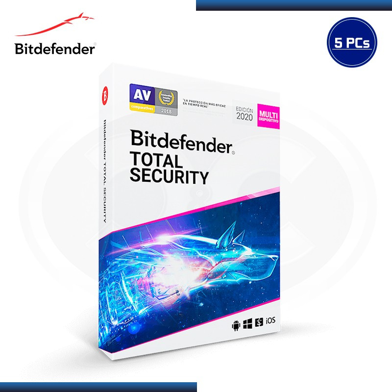 BITDEFENDER TOTAL SECURITY 2020 5 DISPOSITIVOS 15 MESES (PN:B11030023)