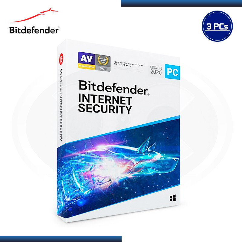 BITDEFENDER INTERNET SECURITY 2020 3PCs 15 MESES (PN:B11020051)