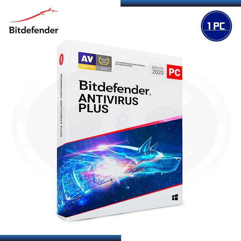 BITDEFENDER ANTIVIRUS PLUS 2020 1 PC+ 1 (2 PCS) 15 MESES (PN:B11010048)
