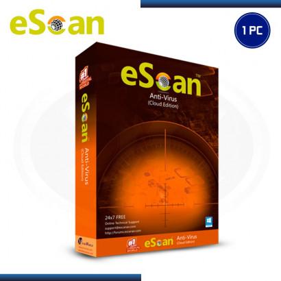 ESCAN ANTIVIRUS 2020  X 1PC