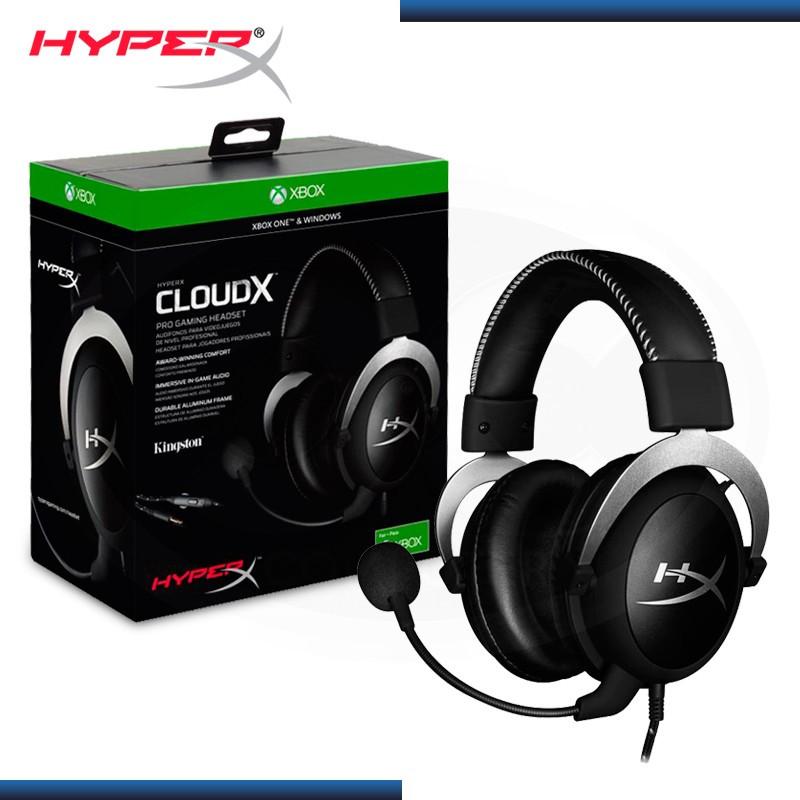 AUDIFONO HYPERX CLOUDX CON MICROFONO SILVER BLACK (PN:HX-HSCX-SR-LA)