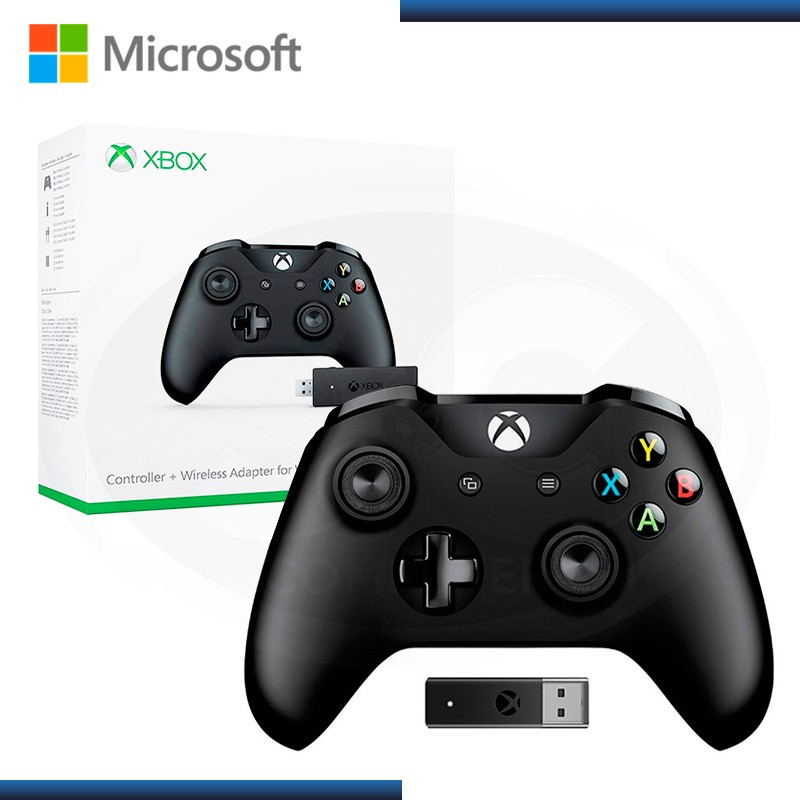 GAMEPAD MICROSOFT  XBOX ONE CONTROL BLACK + + ADAPTADOR  WIRELLESS (PN:4N7-00007)