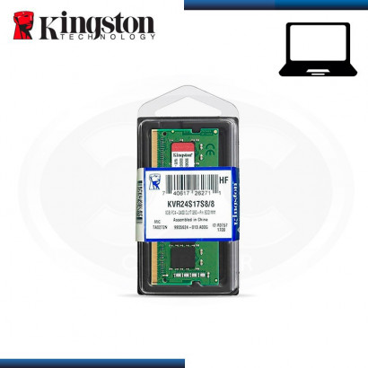MEMORIA SODIMM KINGSTON KVR DDR4 8GB BUS 2400 MHz (N/P KVR24S17S8/8 )