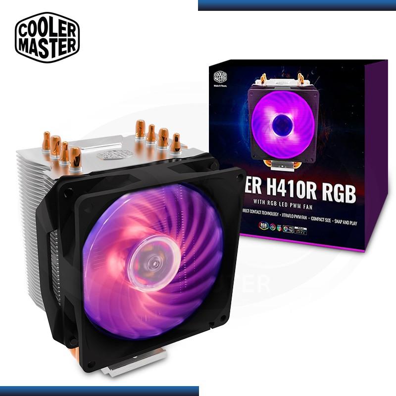 COOLER CPU COOLER MASTER HYPER H410R RGB AMD/INTEL REFRIGERACION AIRE (PN:RR-H410-20PC-R1)