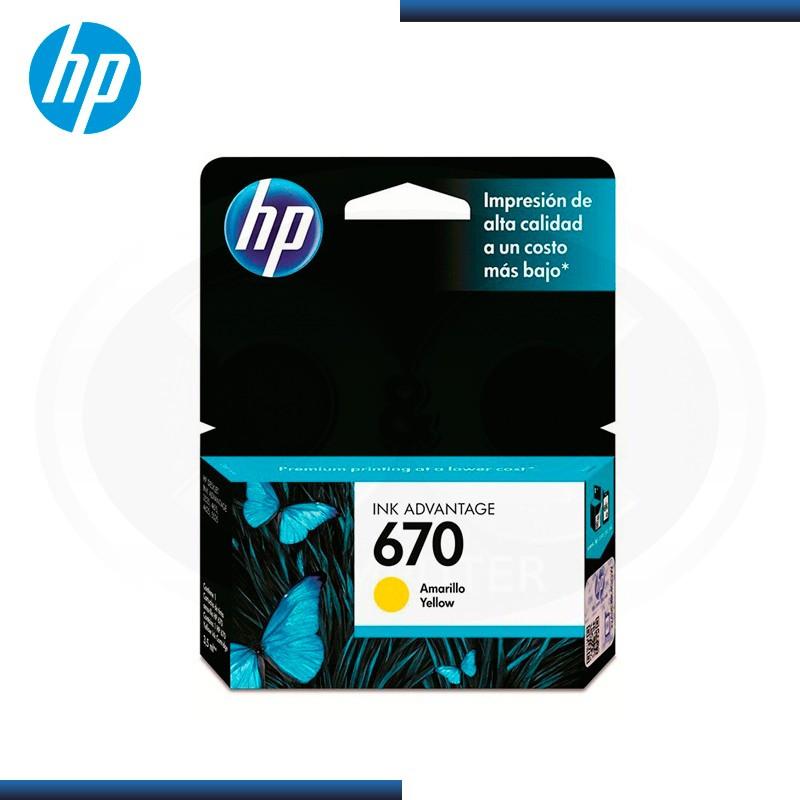 TINTA HP 670 AMARILLO CZ116AL