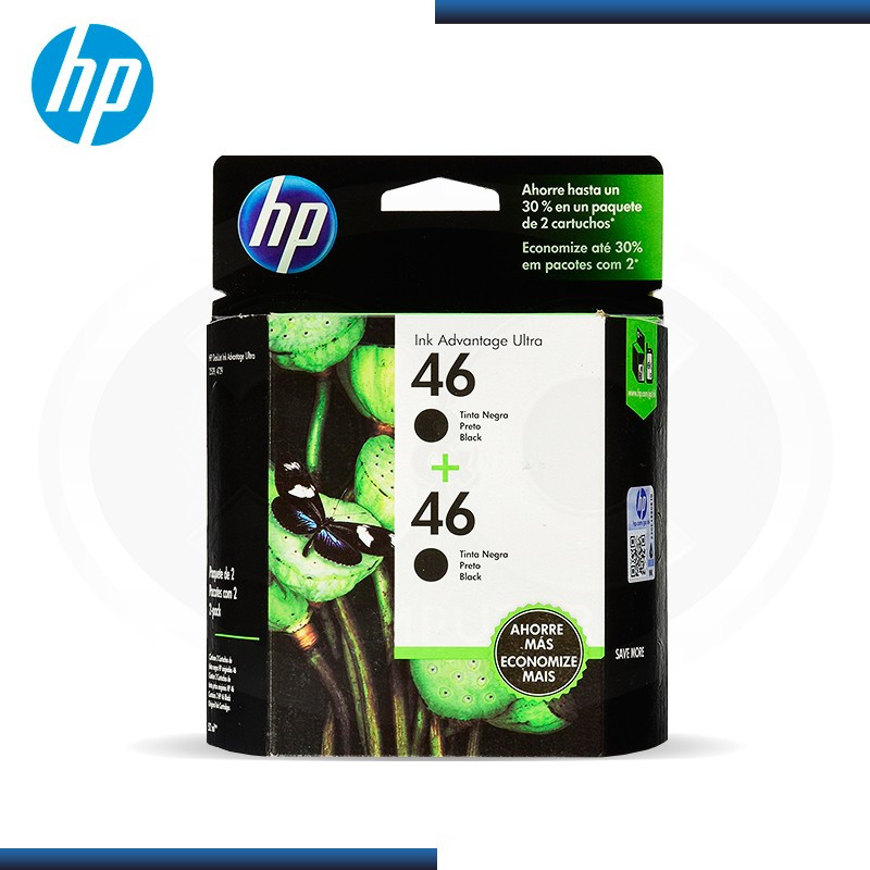 TINTA HP 46 TWO PACK BLACK (MOH61AL)