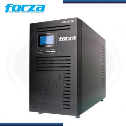 UPS FORZA ATLAS FDC-203K-I 3000VA /3000Watts, 220V 9-IEC40-70HZ, ON LINE