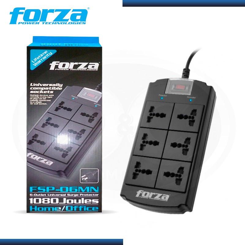 FORZA FSP-06MN SUPRESOR DE PICO FORZA 6 TOMAS
