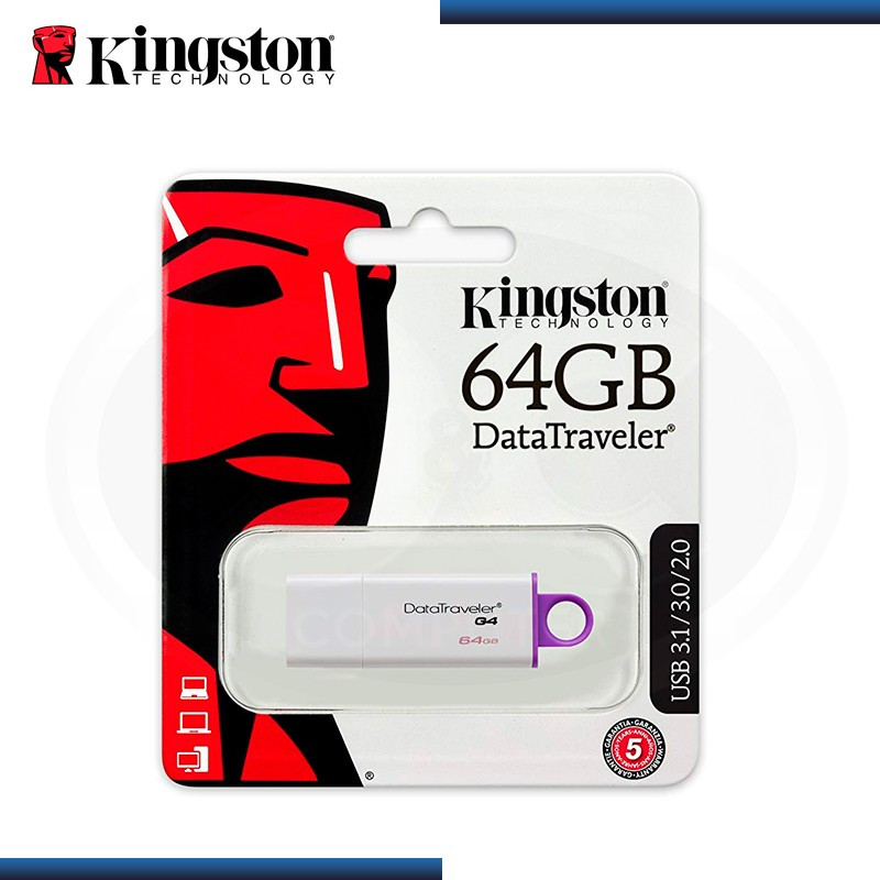 MEMORIA USB 64GB KINGSTON DATA TRAVELER G4 V 3.0/2.0 (PN:DTIG4/64GB)