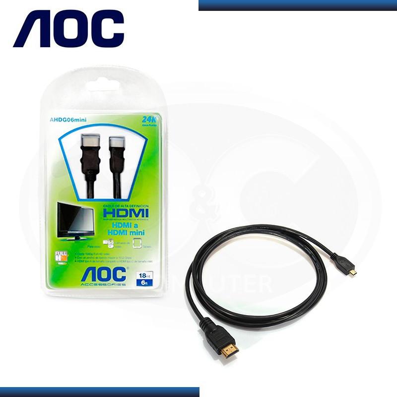 CABLE AOC AHDG06 HDMI A MINI HDMI ALTA DEFINICION 1.8 MTS