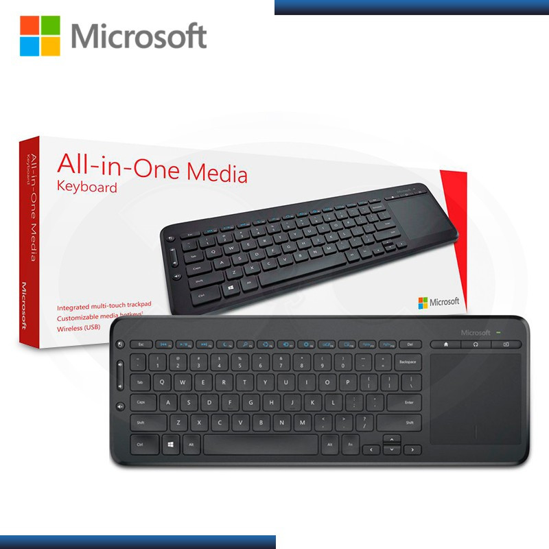 TECLADO MICROSOFT ALL IN ONE MEDIA BLACK USB (PN:N9Z-00004)